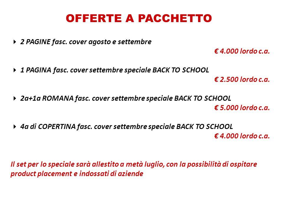OFFERTE A PACCHETTO 2 PAGINE fasc. cover agosto e settembre