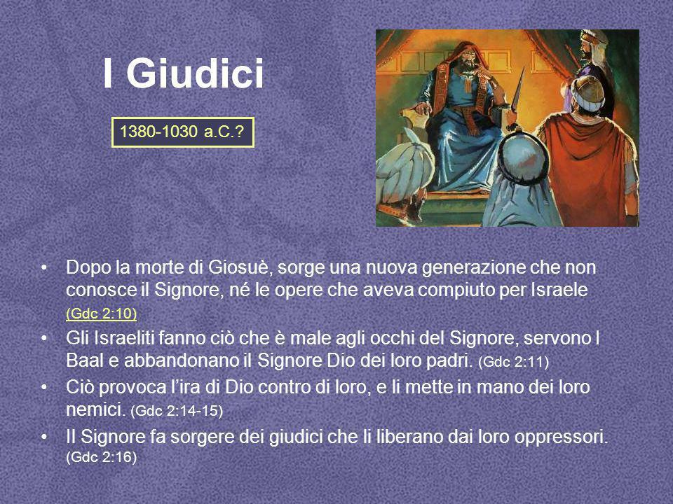 I Giudici 1380-1030 a.C.