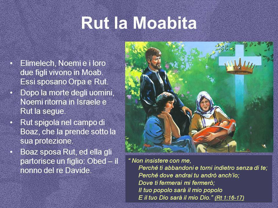 Rut la Moabita Elimelech, Noemi e i loro due figli vivono in Moab. Essi sposano Orpa e Rut.