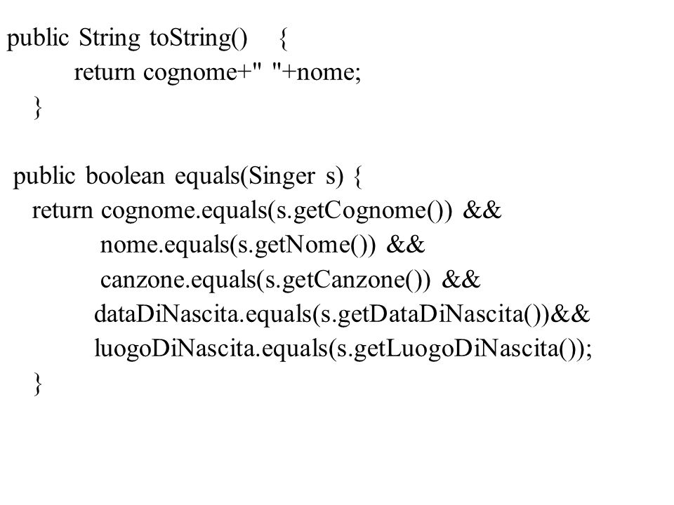 public String toString() {