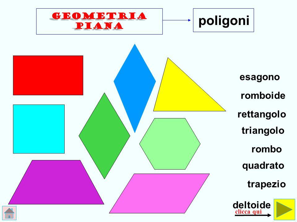 poligoni esagono romboide rettangolo triangolo rombo quadrato trapezio