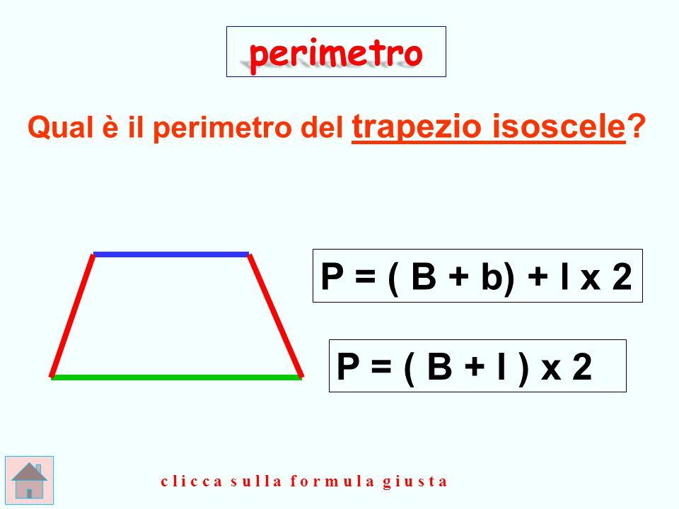 Qual è il perimetro del trapezio isoscele