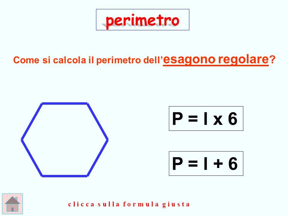 perimetro Come si calcola il perimetro dell'esagono regolare.