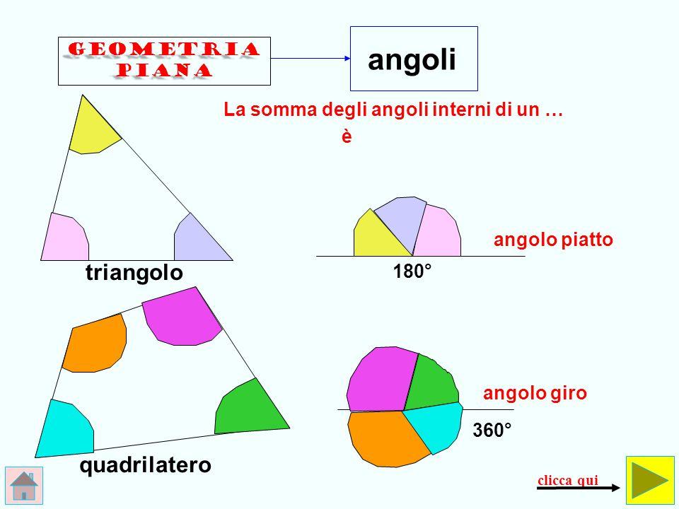 angoli triangolo quadrilatero La somma degli angoli interni di un … è
