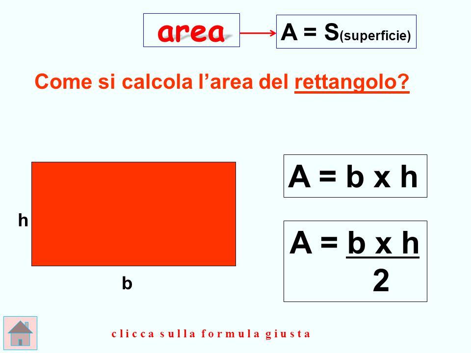 area A = b x h A = b x h 2 A = S(superficie)