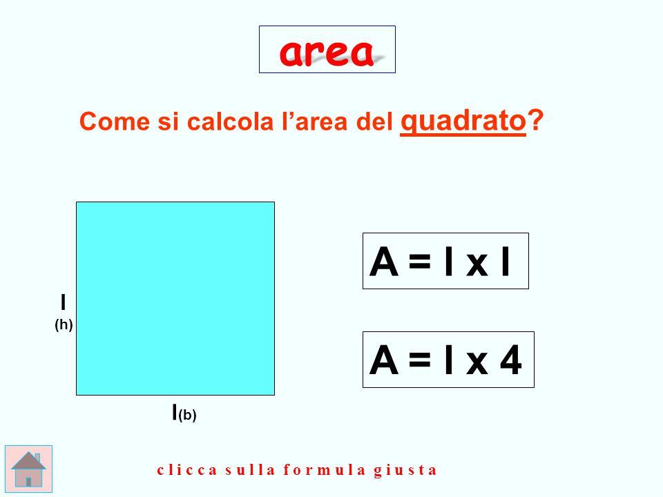 Come si calcola l'area del quadrato