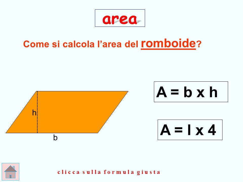 Come si calcola l'area del romboide