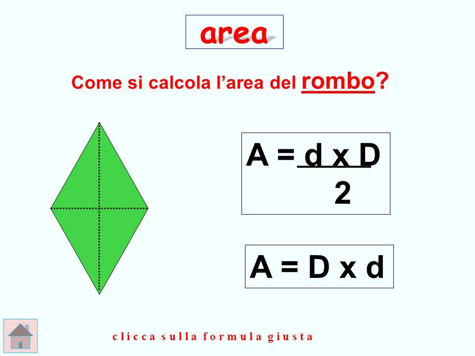 Come si calcola l'area del rombo