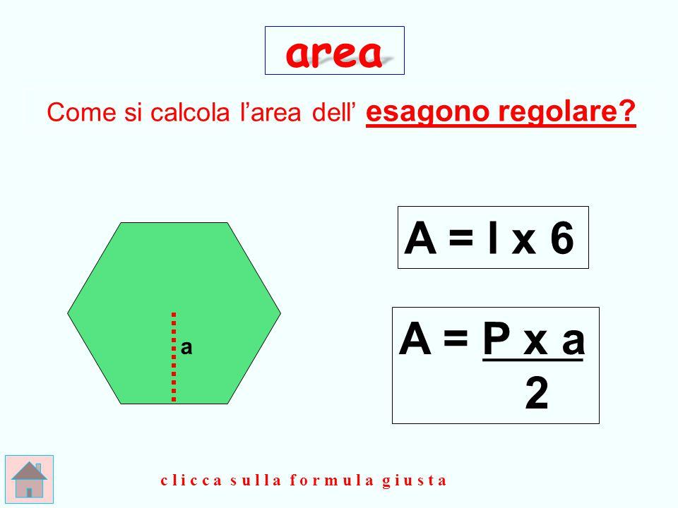 Come si calcola l'area dell' esagono regolare