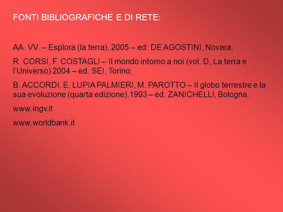 FONTI BIBLIOGRAFICHE E DI RETE: