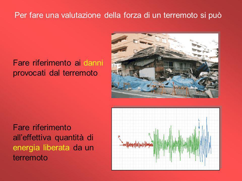 Per fare una valutazione della forza di un terremoto si può
