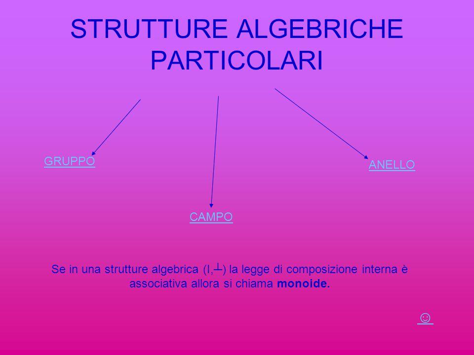 STRUTTURE ALGEBRICHE PARTICOLARI