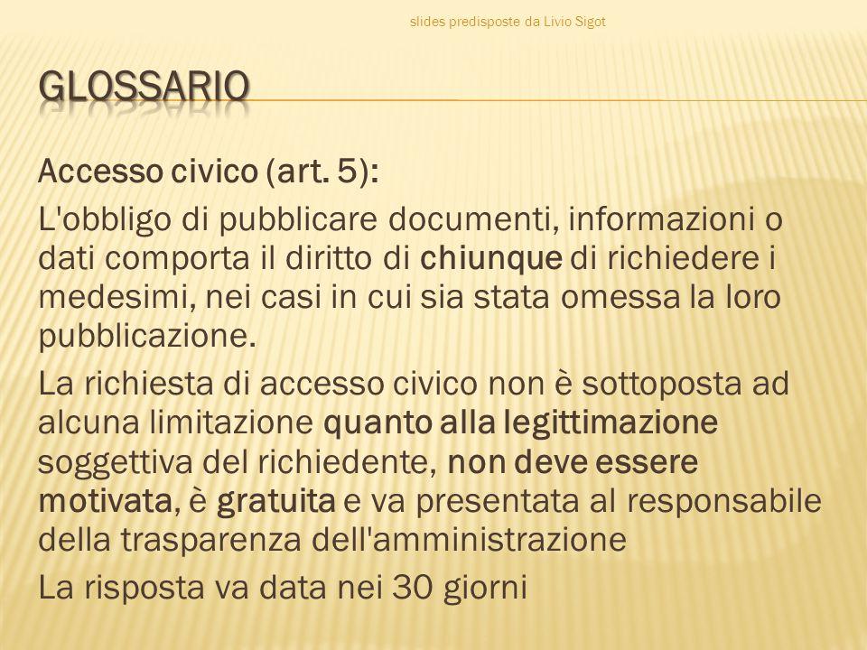 slides predisposte da Livio Sigot