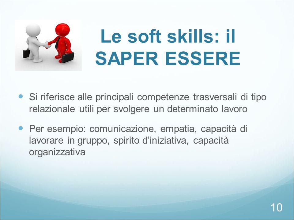 Le soft skills: il SAPER ESSERE