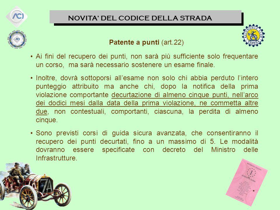 Patente a punti (art.22)