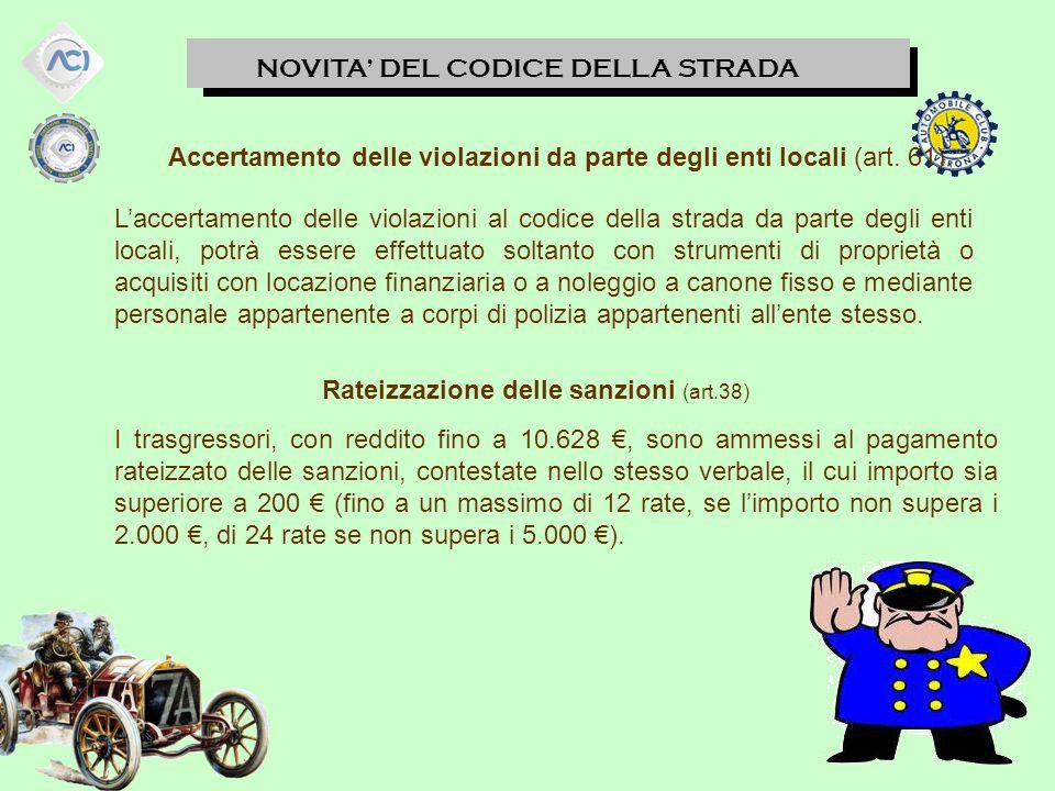 Accertamento delle violazioni da parte degli enti locali (art. 61)