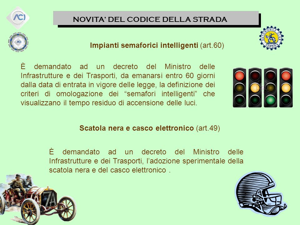 Impianti semaforici intelligenti (art.60)