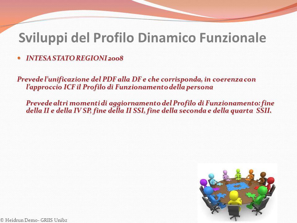 Sviluppi del Profilo Dinamico Funzionale