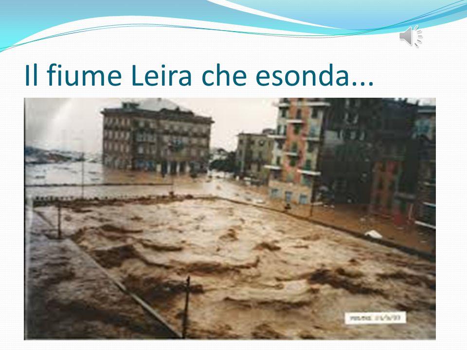Il fiume Leira che esonda...