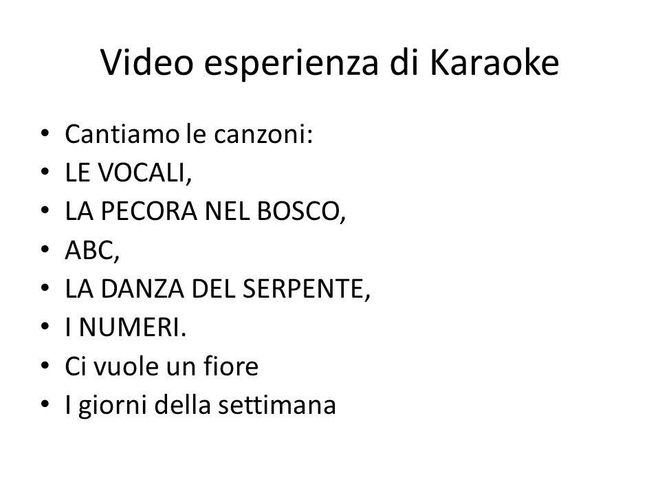 Video esperienza di Karaoke