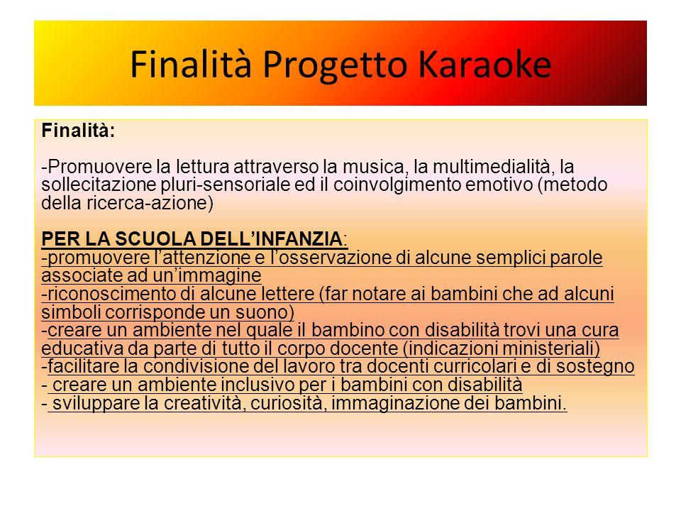 Finalità Progetto Karaoke