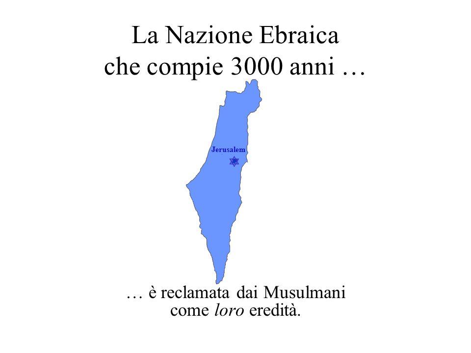La Nazione Ebraica che compie 3000 anni …