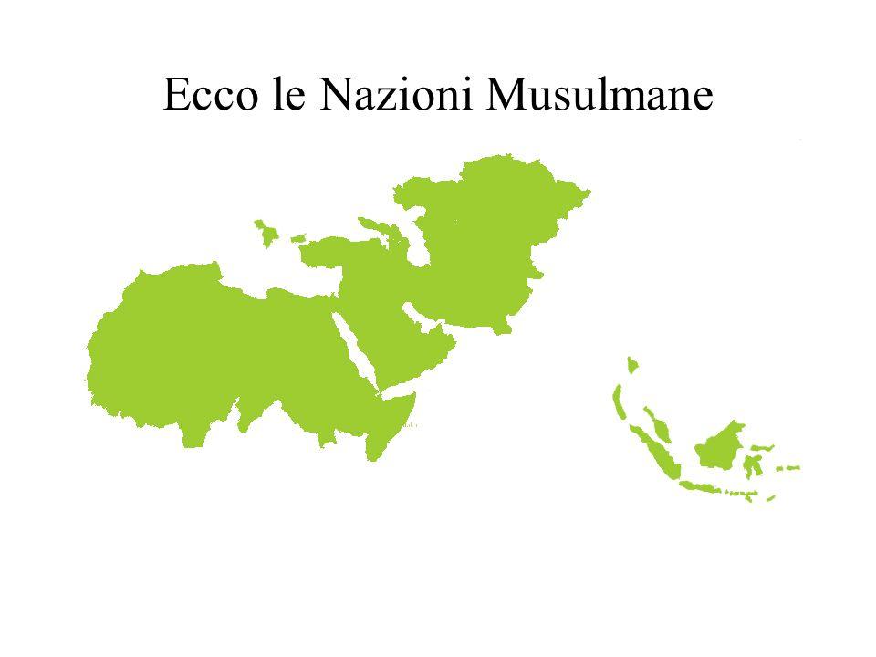 Ecco le Nazioni Musulmane