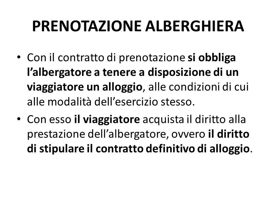 PRENOTAZIONE ALBERGHIERA