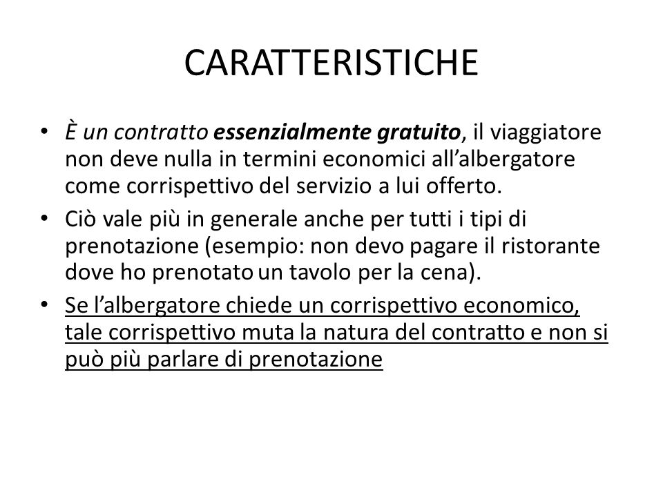 CARATTERISTICHE