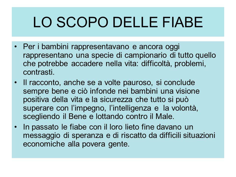 LO SCOPO DELLE FIABE
