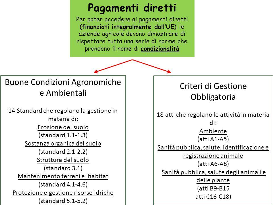 Pagamenti diretti Buone Condizioni Agronomiche e Ambientali