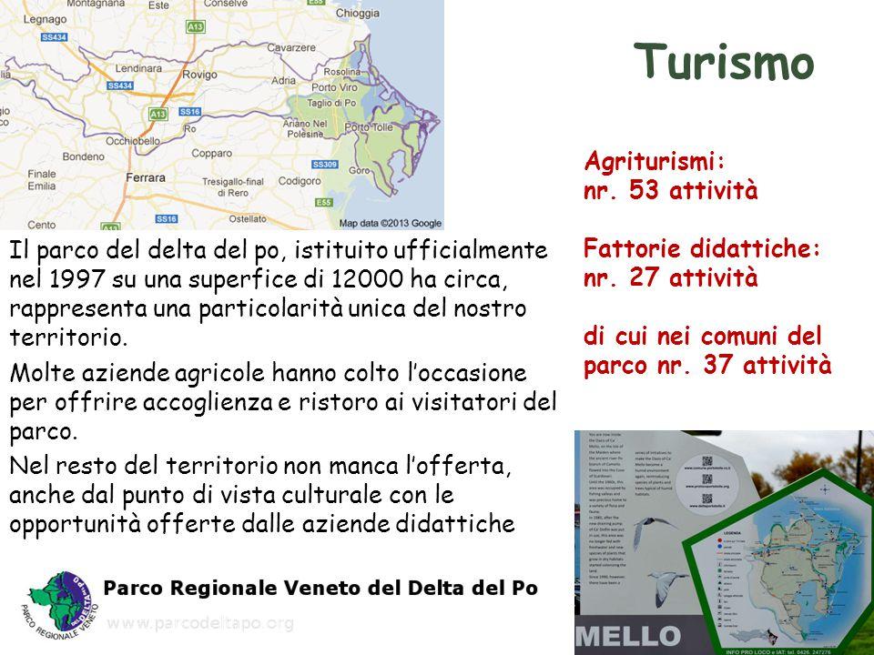 Turismo Agriturismi: nr. 53 attività Fattorie didattiche: