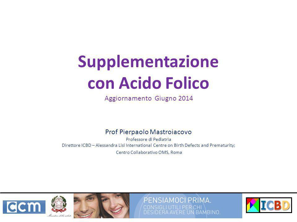 Supplementazione con Acido Folico
