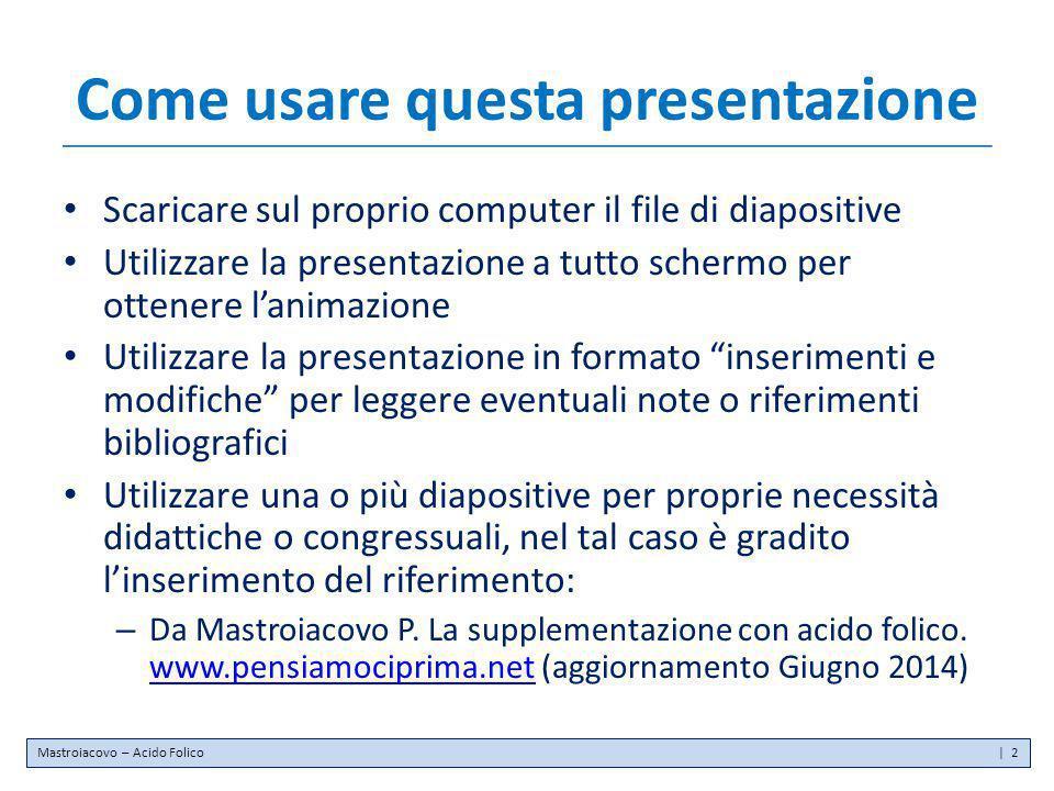 Come usare questa presentazione