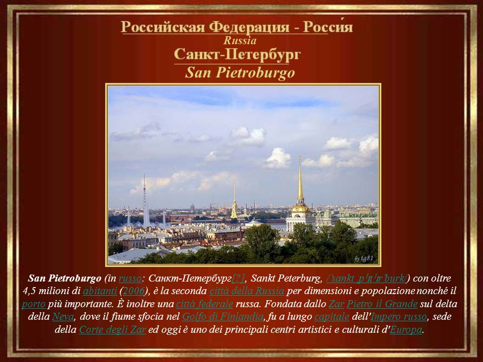 San Pietroburgo __________________________________ Russia