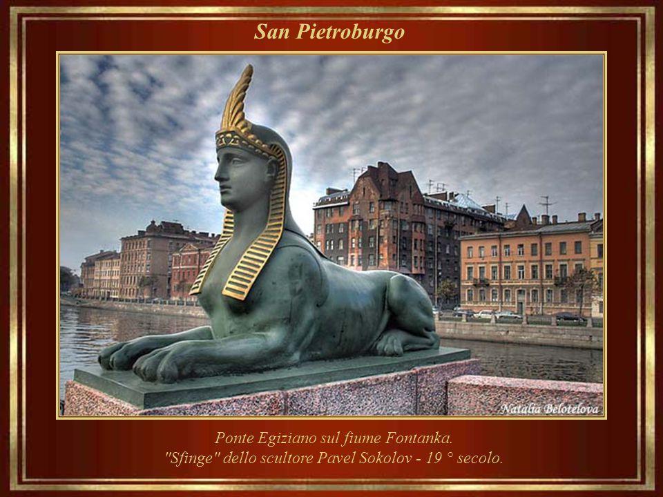 San Pietroburgo Ponte Egiziano sul fiume Fontanka.
