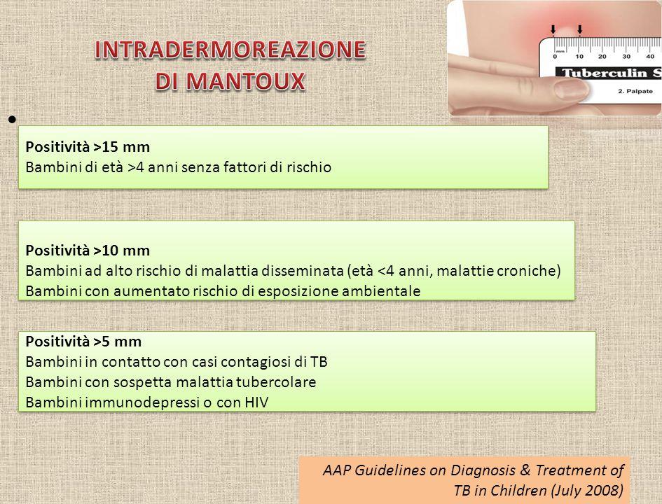 INTRADERMOREAZIONE DI MANTOUX