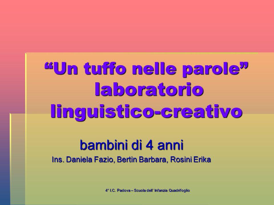 Un tuffo nelle parole laboratorio linguistico-creativo