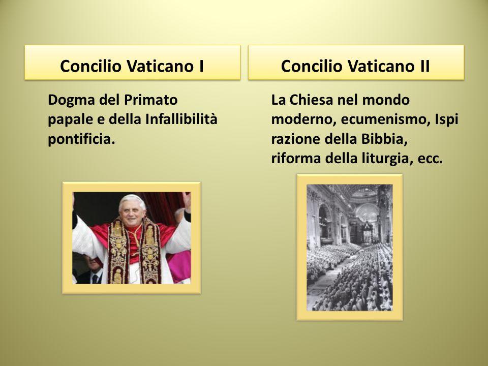 Concilio Vaticano I Concilio Vaticano II
