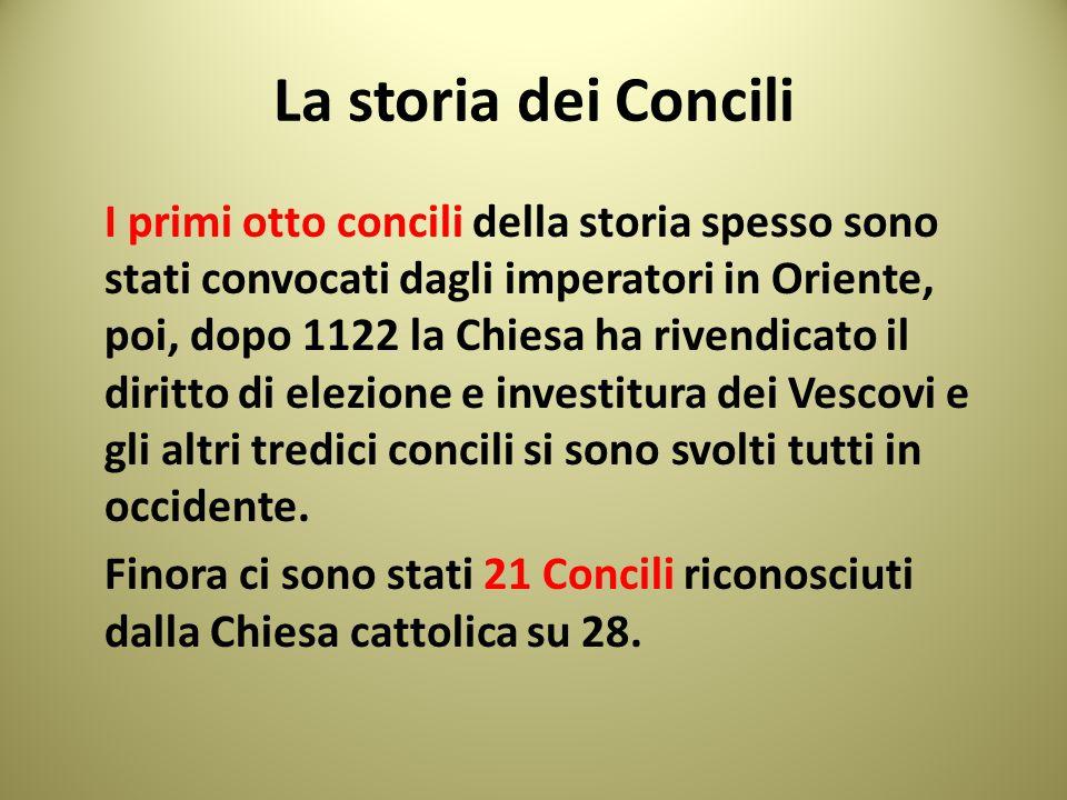 La storia dei Concili