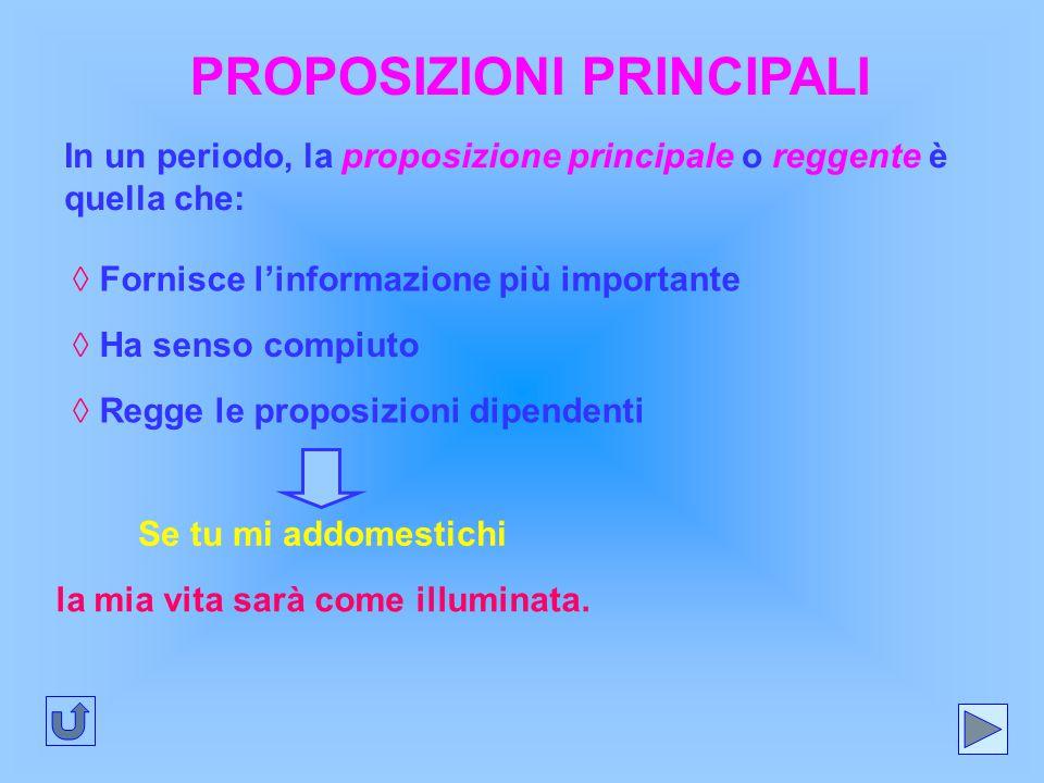 PROPOSIZIONI PRINCIPALI