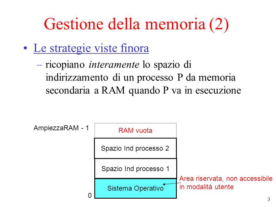 Gestione della memoria (2)