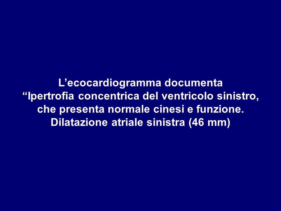L'ecocardiogramma documenta