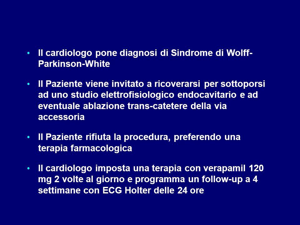 Il cardiologo pone diagnosi di Sindrome di Wolff- Parkinson-White
