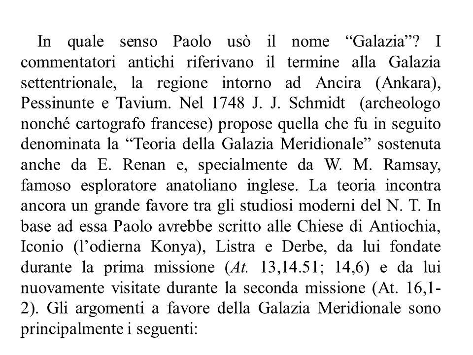 In quale senso Paolo usò il nome Galazia