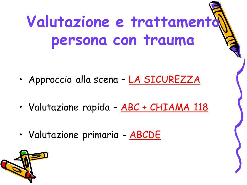 Valutazione e trattamento persona con trauma