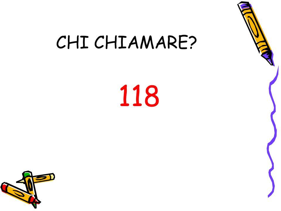 CHI CHIAMARE 118