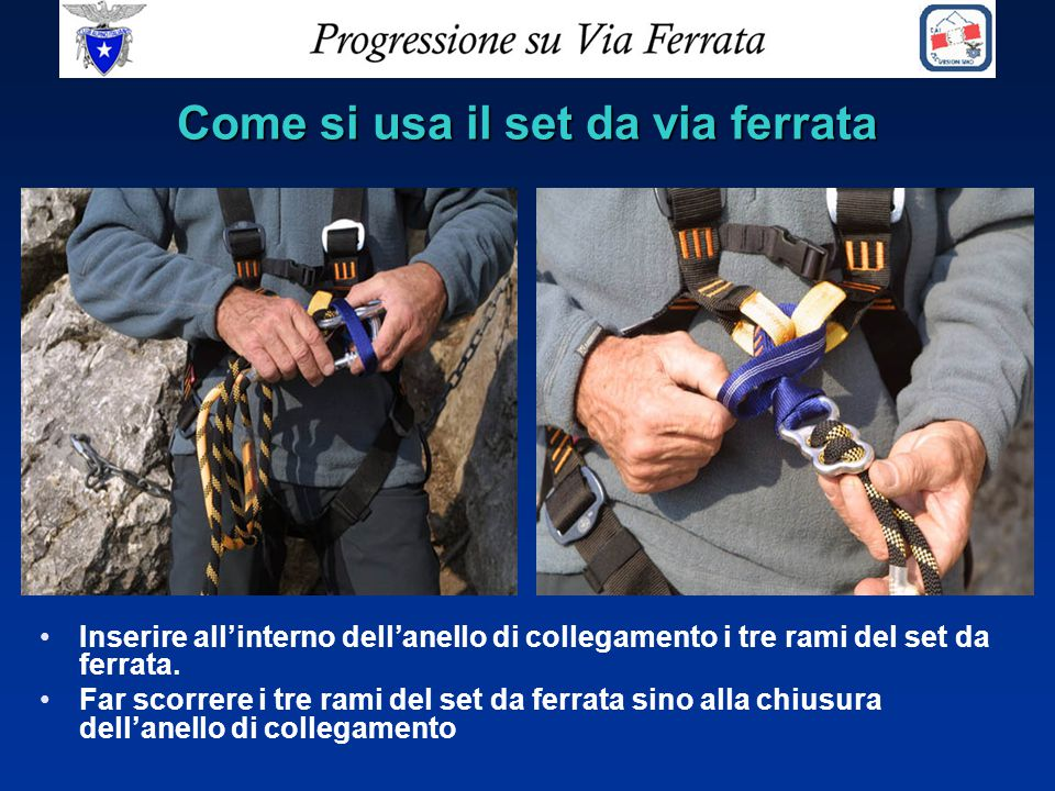 Come si usa il set da via ferrata