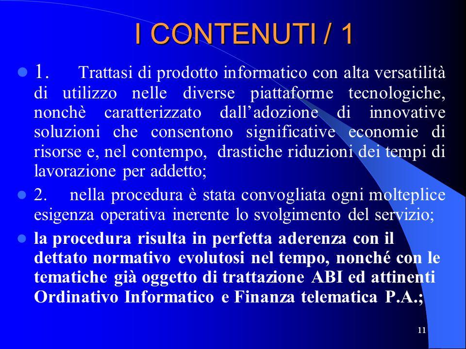 I CONTENUTI / 1