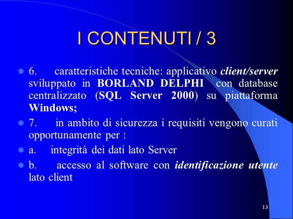 I CONTENUTI / 3